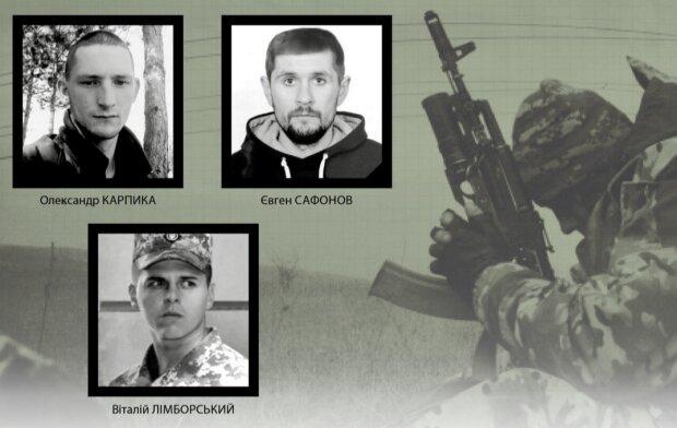 павшие украинские герои, фотоколлаж АрміяInform
