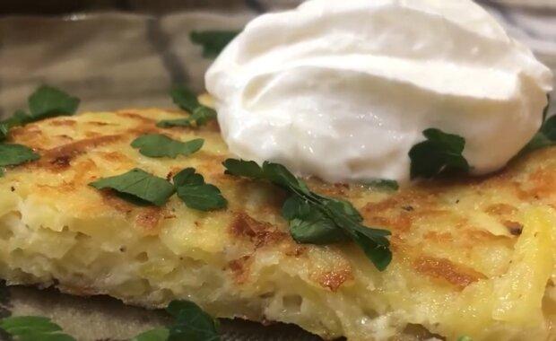 Картопля рьошті, кадр з відео