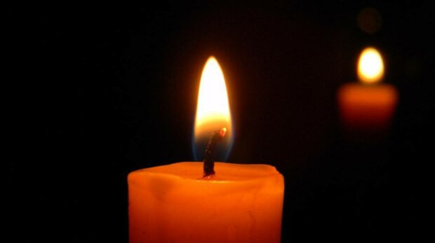 Свічка скорботи, фото: скріншот