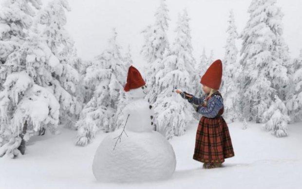 Снежные бабы по-украински: жители поражают своей фантазией