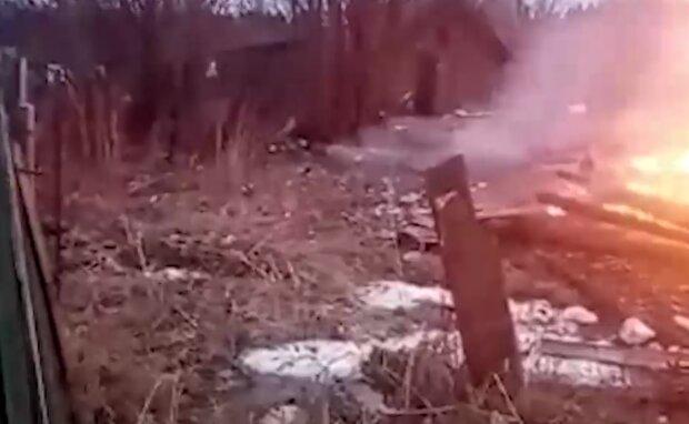 У пожежі загинуло четверо дітей, скріншот з відео