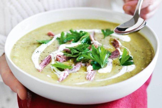 Самый быстрый рецепт горохового супа с ветчиной