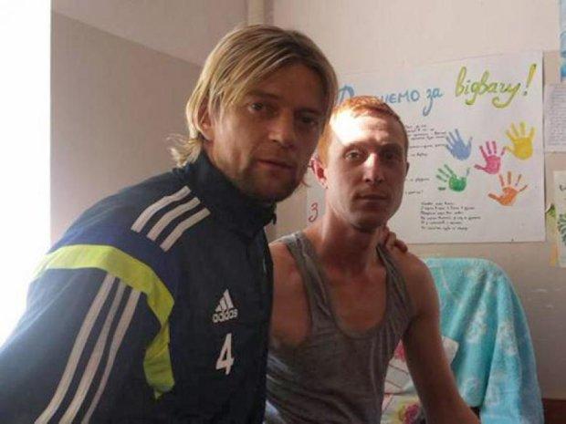 Футболісти збірної України відвідали бійців АТО у госпіталі (фото)