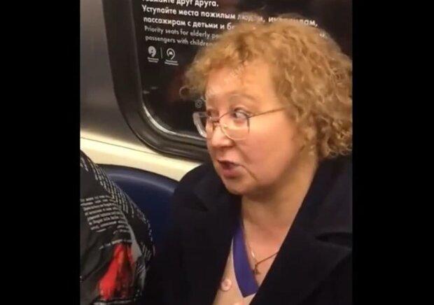 скандал в метро, скриншот с видео