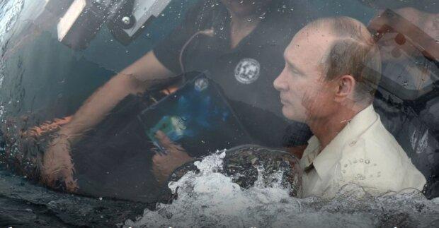 Путін в лодці, фото Твіттер