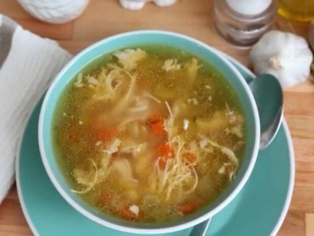 Суп з куркою і селерою, фото з відкритих джерел
