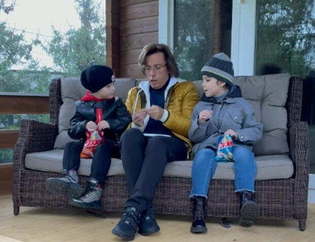 Максим Галкін з дітьми, скріншот