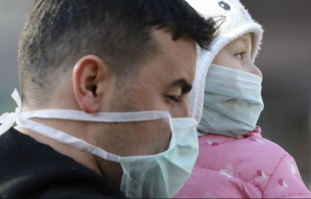 коронавирус заставил украинцев надеть маски, фото:ТСН