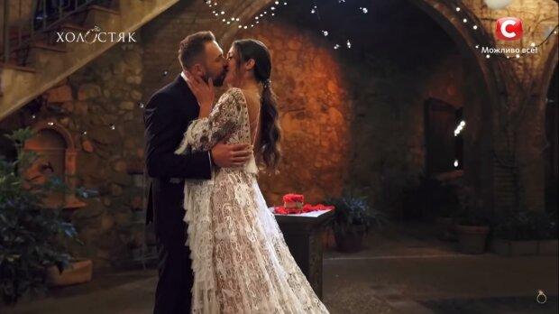"""Даша и Макс на """"Холостяке"""", скриншот с видео"""
