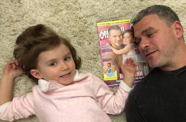 Арсен Мирзоян с дочкой, фото с Instagram