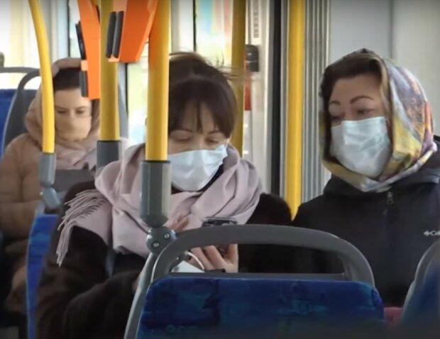 транспорт в карантин, скріншот з відео