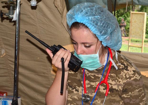 Украинские военные медики на Донбассе