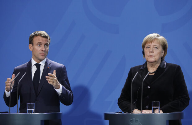 Эмманюэль Макрон и Ангела Меркель, фото: Getty Images