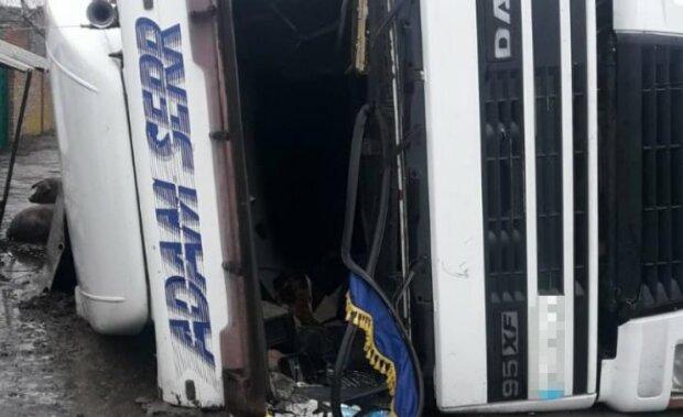 Фото з місця аварії: Націоанальна поліція