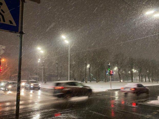 Снегопад, фото: Знай.ua
