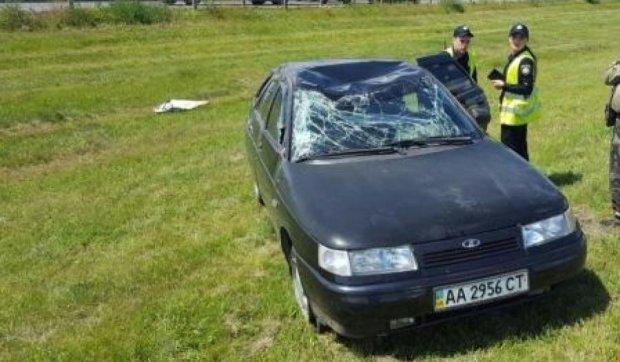 Авария в Киеве: водитель уснул за рулем
