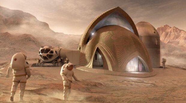 Марсіанське поселення, скріншот: YouTube