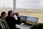 Путін на військових навчаннях, фото з вільних джерел