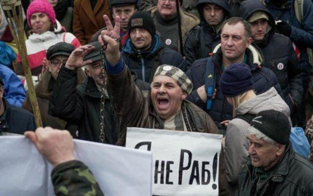 Марш за імпічмент: центр Києва заполонили копи