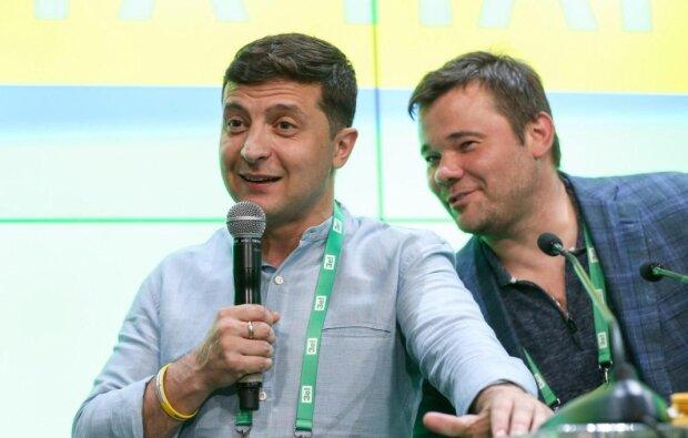 Володимир Зеленський і Андрій Богдан, Уніан
