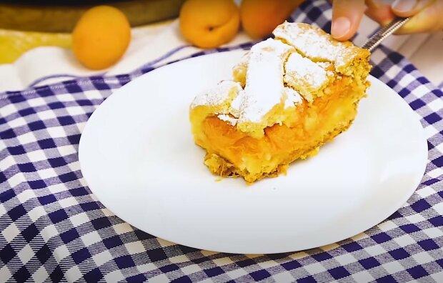 абрикосовый пирог, скриншот из видео