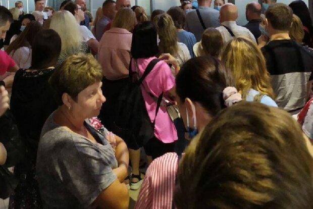 Пассажиры в Харькове, фото: Telegram