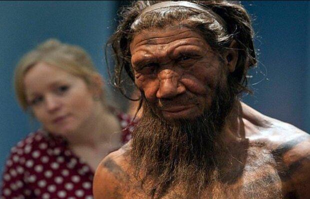 Фігура неандертальця, dailymail.co.uk