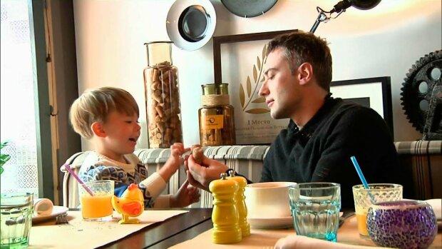 Дмитрий Шепелев с сыном, скриншот