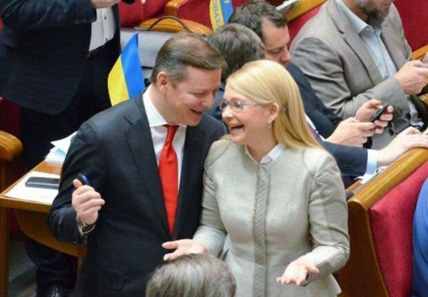 Юлия Тимошенко и Олег Ляшко, фото из свободных источников