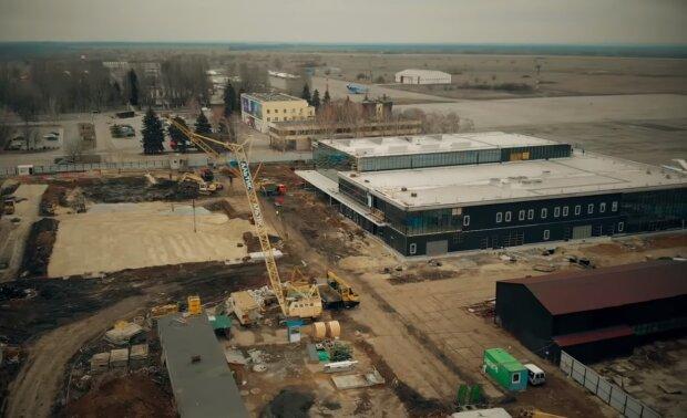Строительство аэропорта Запорожье, фото YouTube