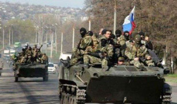Под  Донецком заметили колонну из 30 единиц российской техники