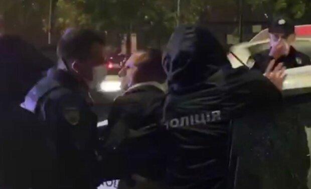 Задержание Шевчука, скриншот: YouTube