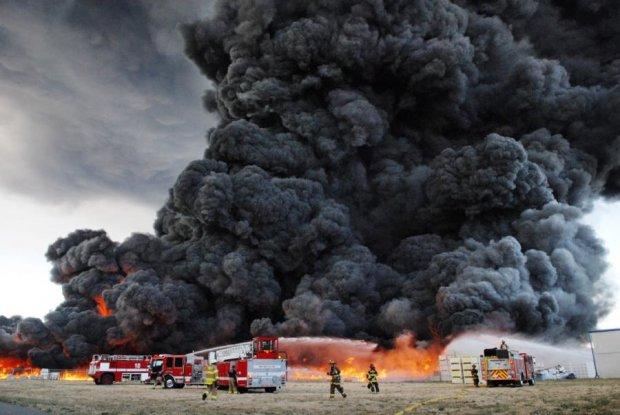 В Польше загорелась токсическая свалка, началась эвакуация: фото
