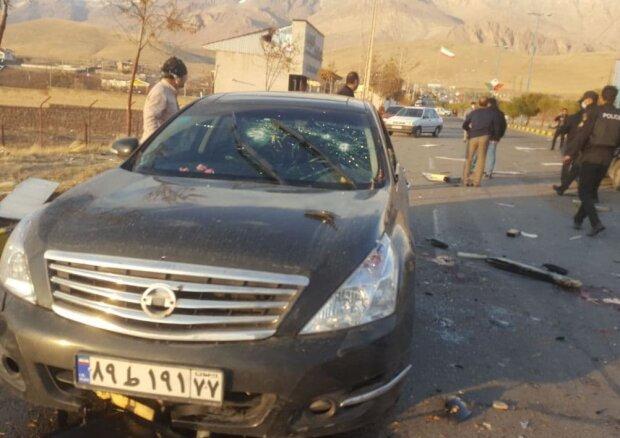 фото з місця вбивства Мохсена Фахрізаде, фото: Fars