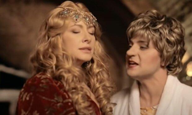 Елена Кравец и Владимир Зеленский, скриншот: YouTube