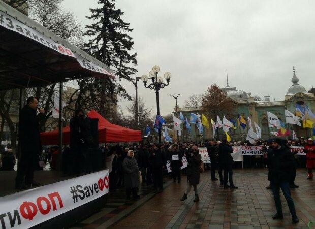 """Митинг """"SaveФОП"""", фото: Znaj.ua"""