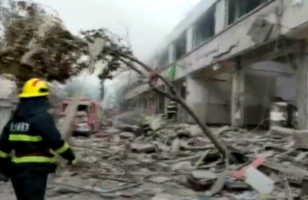 Взрыв в Шиянь. Скрин, видео YouTube