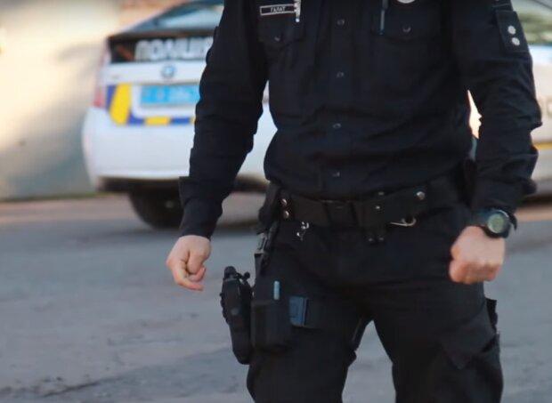 поліцейський, скрін з відео