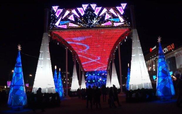 новогодний Харьков, скриншот из видео