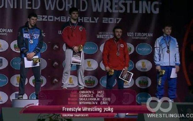 Украинский борец добыл бронзовую медаль чемпионата Европы