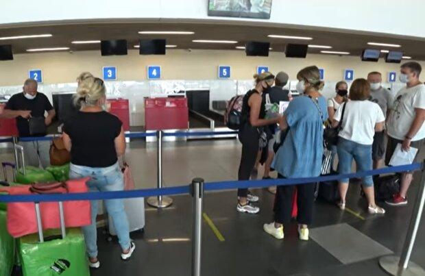 Аеропорт під час карантину, скріншот: YouTube