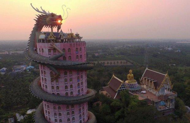 буддийский храм Wat Samphran