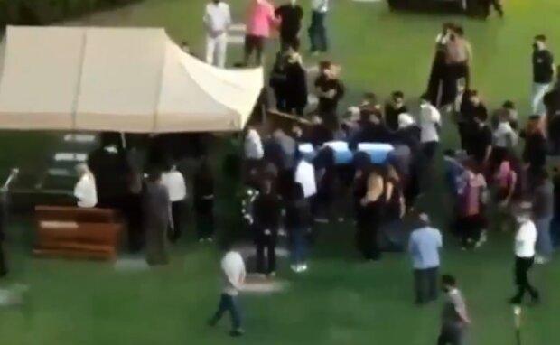Похороны Марадоны, скрин из видео