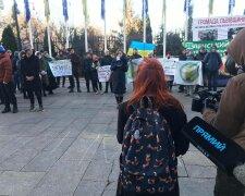 В Киеве протестуют против застройки Протасового яра, фото: Facebook