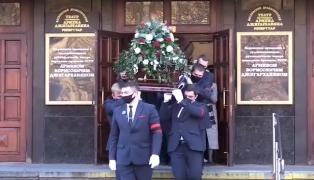 Похорон Армена Джигарханяна, фото: кадр з відео
