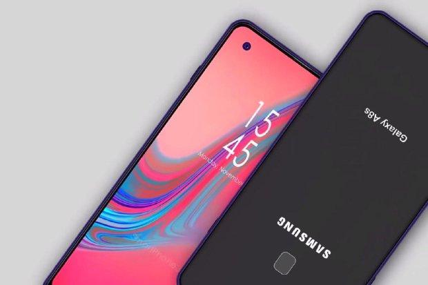Смартфон Самсунг Galaxy A8S сдырявым дисплеем - три раза 1-ый