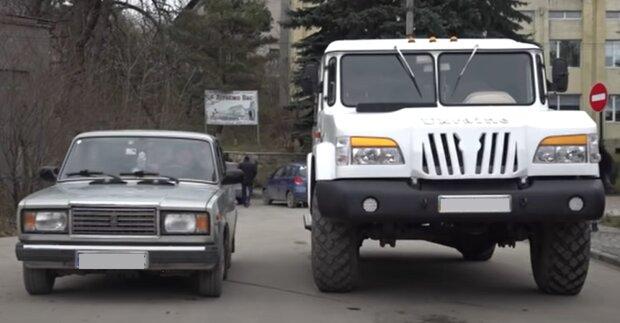 Українець створив унікальний позашляховик, кадр з репортажу Суспільне: YouTube