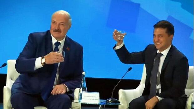 Зеленский и Лукашенко, скриншот с видео