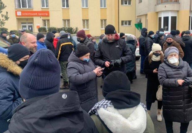 Тарифні протести у Львові. Фото: СтопКор