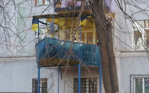 В Киеве заметили балкон настоящего капитана